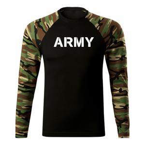 WARAGOD Fit-T tričko s dlhým rukávom army, woodland 160g/m2