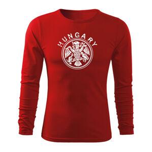 WARAGOD Fit-T tričko s dlhým rukávom hungary, červená 160g/m2