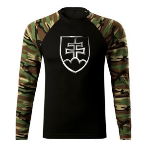 WARAGOD Fit-T tričko s dlhým rukávom slovenský znak, woodland 160g/m2