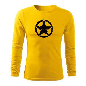 WARAGOD Fit-T tričko s dlhým rukávom star, žltá 160g/m2