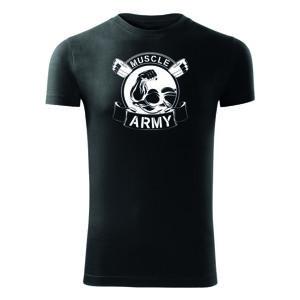 WARAGOD fitness tričko muscle army original, čierna 180g/m2