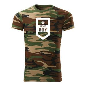 WARAGOD krátke tričko army boy, maskáčová 160g/m2
