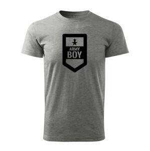 WARAGOD krátke tričko army boy, sivá 160g/m2