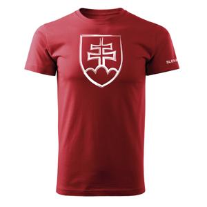 WARAGOD krátke tričko slovenský znak, červená 160g/m2