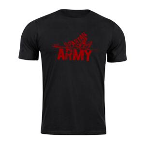 Waragod krátke tričko spartan army RedNabis, čierna 160g/m2