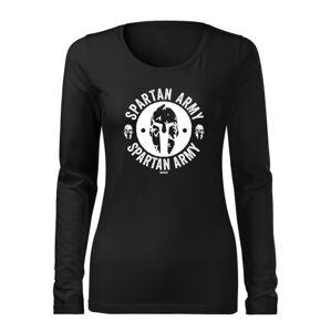WARAGOD Slim dámske tričko s dlhým rukávom Archelaos, čierna 160g/m2