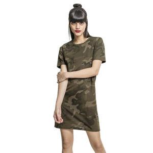 Urban Classics dámske maskáčové šaty, olive camo