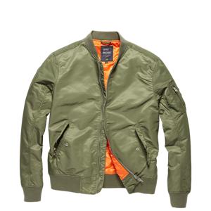 Vintage Industries Bomber Welder prechodná bunda, light olive