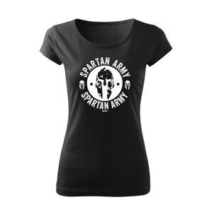 WARAGOD dámske krátke tričko Archelaos, čierna 150g/m2