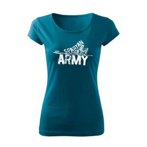 WARAGOD dámske krátke tričko Nabis, petrol blue150g/m2