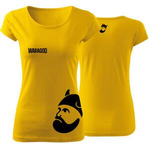 WARAGOD dámske tričko BIGMERCH, žltá 150g/m2
