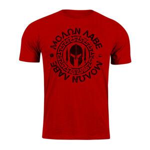 WARAGOD krátke tričko Molon Labe, červená 160g/m2