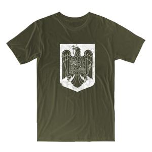 """WARAGOD krátke tričko """"rumunský štátny znak"""", olivová 160g/m2"""