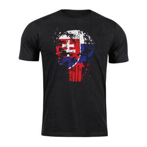 WARAGOD krátke tričko Slovenský Punisher, čierne