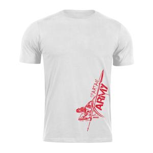 Waragod krátke tričko spartan army RedMyles, biela 160g/m2
