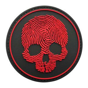 WARAGOD Nášivka 3D Fingerprint Skull 8.5cm