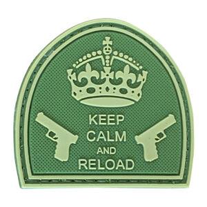 WARAGOD Nášivka 3D Keep Calm and Reload olivová 5cm