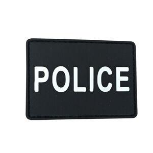 WARAGOD Nášivka 3D Police čierna 7x5cm