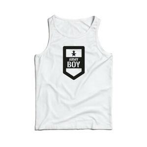 Waragod pánske tielko Army boy, biela 160g/m2