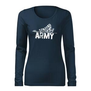 WARAGOD Slim dámske tričko s dlhým rukávom Nabis, tmavo modrá160g/m2